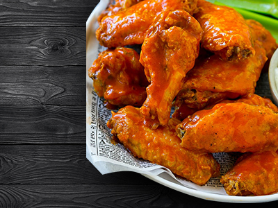 Chicken Wings with Hot Garlic Sauce